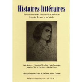 Histoires littéraires 2018 - N°75