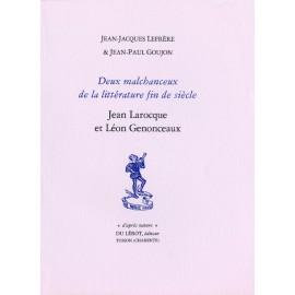 Goujon, Jean-Paul et Lefrère, Jean-Jacques – Deux malchanceux de la littérature fin de siècle