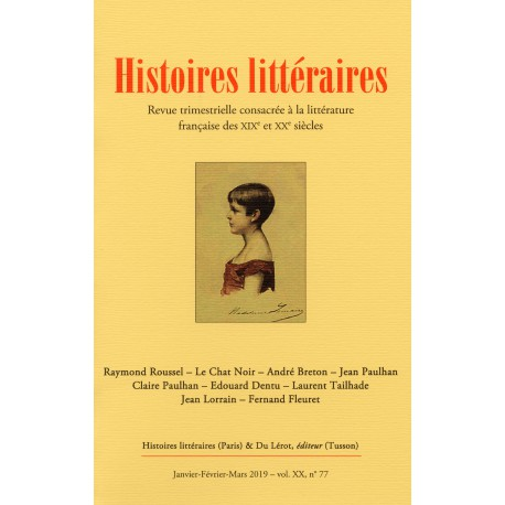 HISTOIRES LITTERAIRES 2019 - N° 77