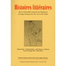 HISTOIRES LITTERAIRES NUMERO 80