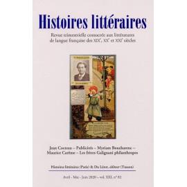 HISTOIRES LITTERAIRES N°82 - 2020