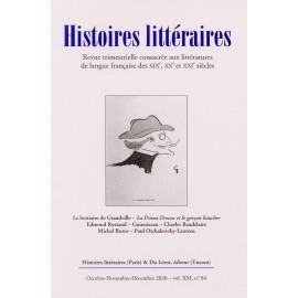 HISTOIRES LITTERAIRES 2020 - Numéro 84