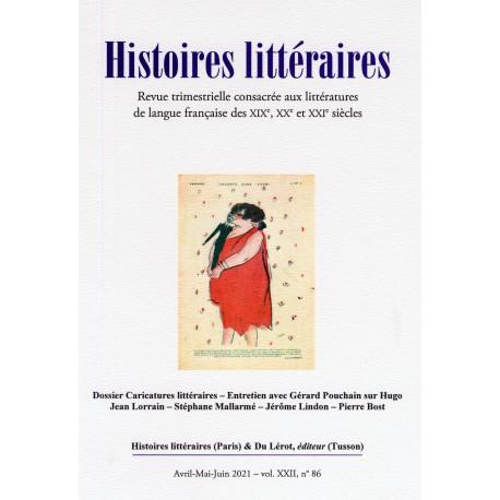 Histoires littéraires 2021 - numéro 86